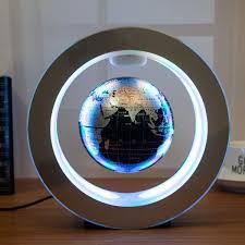 <b>Novelty</b> Round <b>LED World Map</b> Floating Globe Magnetic Levitation ...