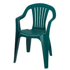Outdoor Stacking Chairs Green