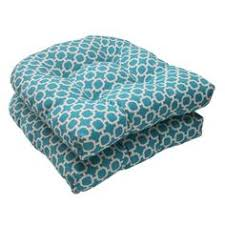 dining chair cushion outdoor and indoor hockley wicker 2 set in teal pillow perfect outdoor chair cushionspatio furniture