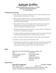 Jackson Memorial Hospital Associate Nurse Manager Resume Sample ...