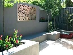 backyard wall decor outside wall ideas