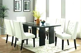 round glass dining table wood base top tables retro set with 6 leather chairs faux room round glass dining table
