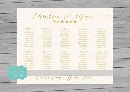 Wedding Alphabetical Seating Chart Printable Seating Chart Gold Foil Faxu Printable
