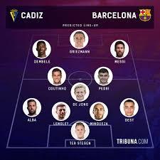Cadiz vs Barcelona: line-ups, score predictions, head-to-head record & more  — preview