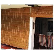 brown outdoor bamboo roller blind