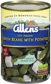 cut italian green beans and potatoes allens green beans cut italian with potatoes