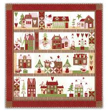 Christmas Quilt Kit - Christmas Decore & ... Mistletoe Lane Quilt Kit Block of the Month or All at Once Adamdwight.com