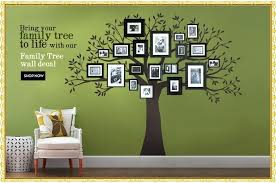 x large room photo frame decoration family tree wall decal sticker