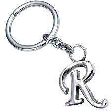 Simple Office Design Impressive Amazon Stylish Letter R Simple Alphabet Key Ring Creative