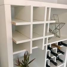 wine rack insert for ikea kallax expedit storage unit bottle holder white