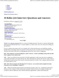 killer job interview questions and answers the best com future plans job interview questions killer job interview questions and answers the best interview evaluation