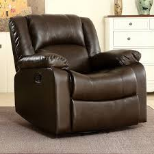 rocker recliner chair faux leather swivel glider reclining living room chair for