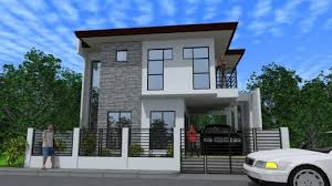 24 Amazing Two Storey Building Designs  Home Plans U0026 Blueprints Two Storey Modern House Designs