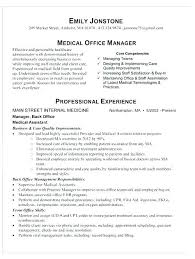 Office Manager Resume Template Unique Sample Resumes For Office Manager Sample Of Manager Resume Office