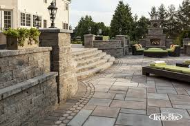 Techo-Bloc Fireplace, Outdoor Lighting, Patio, Stoop & Stair, Wall ...