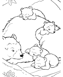 Small Picture Polar Bear Baby Polar Bear and Their Mother Coloring Page