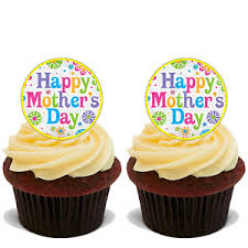 Mothers Day 30 X 4cm Stand Up Cupcake Toppers Mothers Day Cake