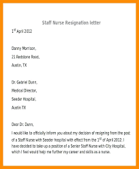 Nurse Resignation Letter Simple Nursing Resignation Letters Templates Awesome Collection Of Sample
