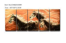 3d horse metal oil painting 100
