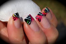 Tribal Funky French Nail Art – Alpha Amore