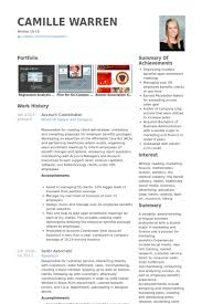 Account Coordinator Resume samples