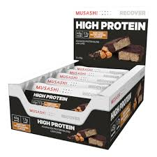 MUSASHI High <b>Protein Bar</b> - Dark Choc <b>Salted Caramel</b> (Box of12 ...