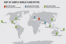 the genesis flood not just another legend answers in genesis map of flood myths