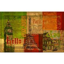 Indoor/Outdoor Hello, Bonjour, Ciao Doormat (18x30) - Free ...