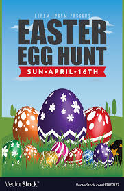 Easter Egg Hunt Flyer Template Design Royalty Free Vector