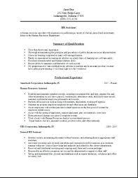 Hr Resume Template Human Resource Resume Samples Hr Resume Examples