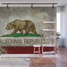 california republic state flag vintage