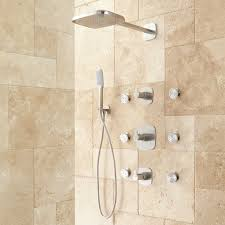 brushed nickel shower system. Brushed Nickel Shower System E