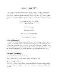 Program Security Officer Sample Resume Impressive Resume Format For Security Officer Mmdadco