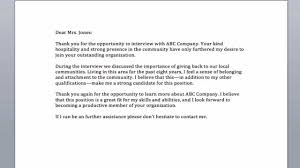 Thanks Letter After Interview By Mail Perfect Resume Format