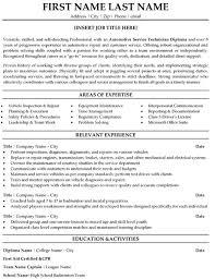 ... Manager P2 Automotive Resume 17 Automotive Service Technician Resume  Sample Template ...