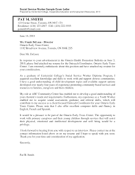 social work cover letter samples letter format  cover