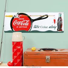 Coca-Cola Take Coke Along Fishing Metal Sign