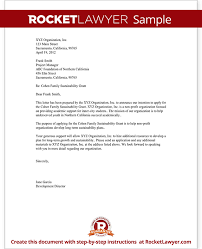 Letter Of Intent For Grant For Non Profit Template With Sample