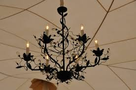 wrought iron crystal chandelier photo 2