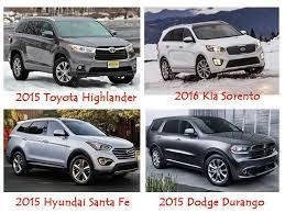 Suvs With Third Row Seating For Family Adventure Family Adventure Hyundai Santa Fe 2015 New Cars