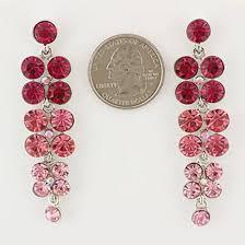 earrings silver tone casting post fuschia pink stone chandelier earrings lead compliant