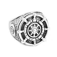 2018 whole whole rudder biker ring high quality 316l snless steel jewelry silver vine anchor motor biker ring for men swr0552 from geworth