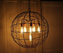orb chandelier industrial sphere pendant lighting