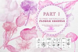 free watercolor brushes illustrator 13 free watercolor flower brushs photoshop photoshop ideas
