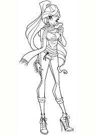 Tranh tô màu công chúa phép thuật Winx đẹp nhất - Zicxa hình ảnh