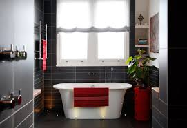 ... house-tour-beautiful-contemporary-black-tile-bath-red- ...