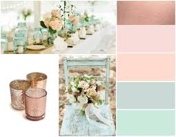 Beautiful demonstration of how MINT GREEN and BLUSH PINKS compliment ROSE  GOLD so well
