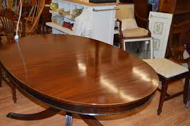 Inlaid Dining Table Robert W Irwin Co Mahogany Dining Table Inlaid Jarreds