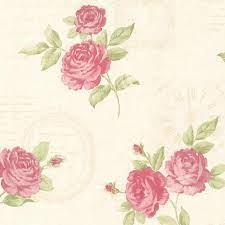 Brewster Venetia Pink Vintage Rose Toss ...
