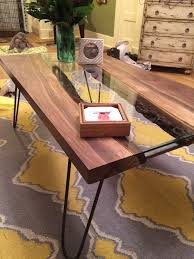 picture of live edge river coffee table